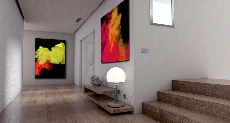 Beispiel Wanddekoration im Wohnraum
