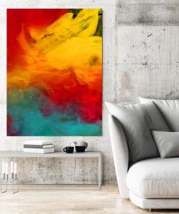 große frabige Foto-Gemälde kaufen